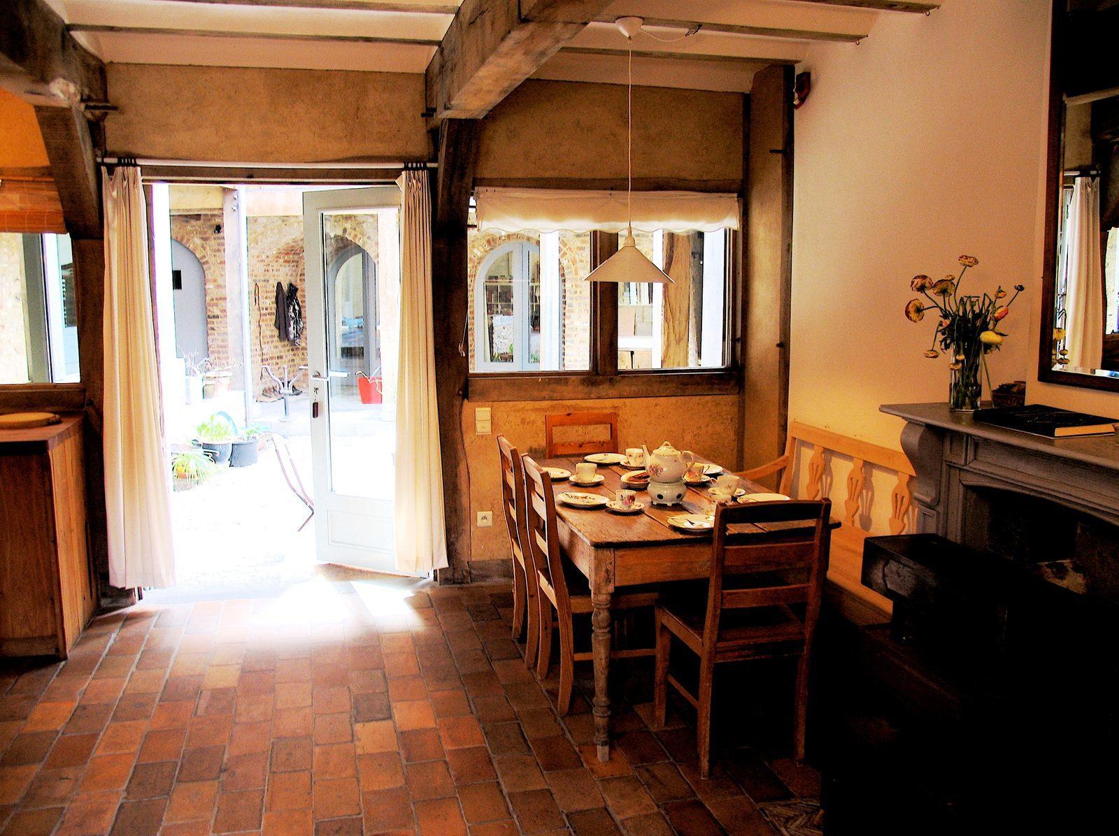 Wentelhuis, vakantiehuis in de Voerstreek met Ardenner houtkachel