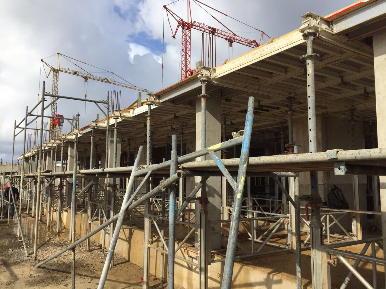 Construction steadily progressing!