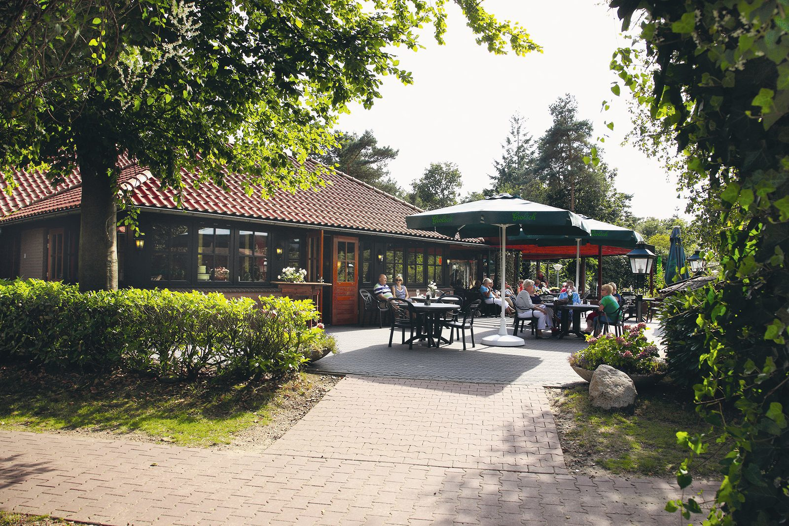 Terrace at Holiday Resort De Lindenberg