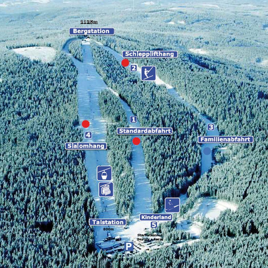 Kaart van het Skigebied Sternstein