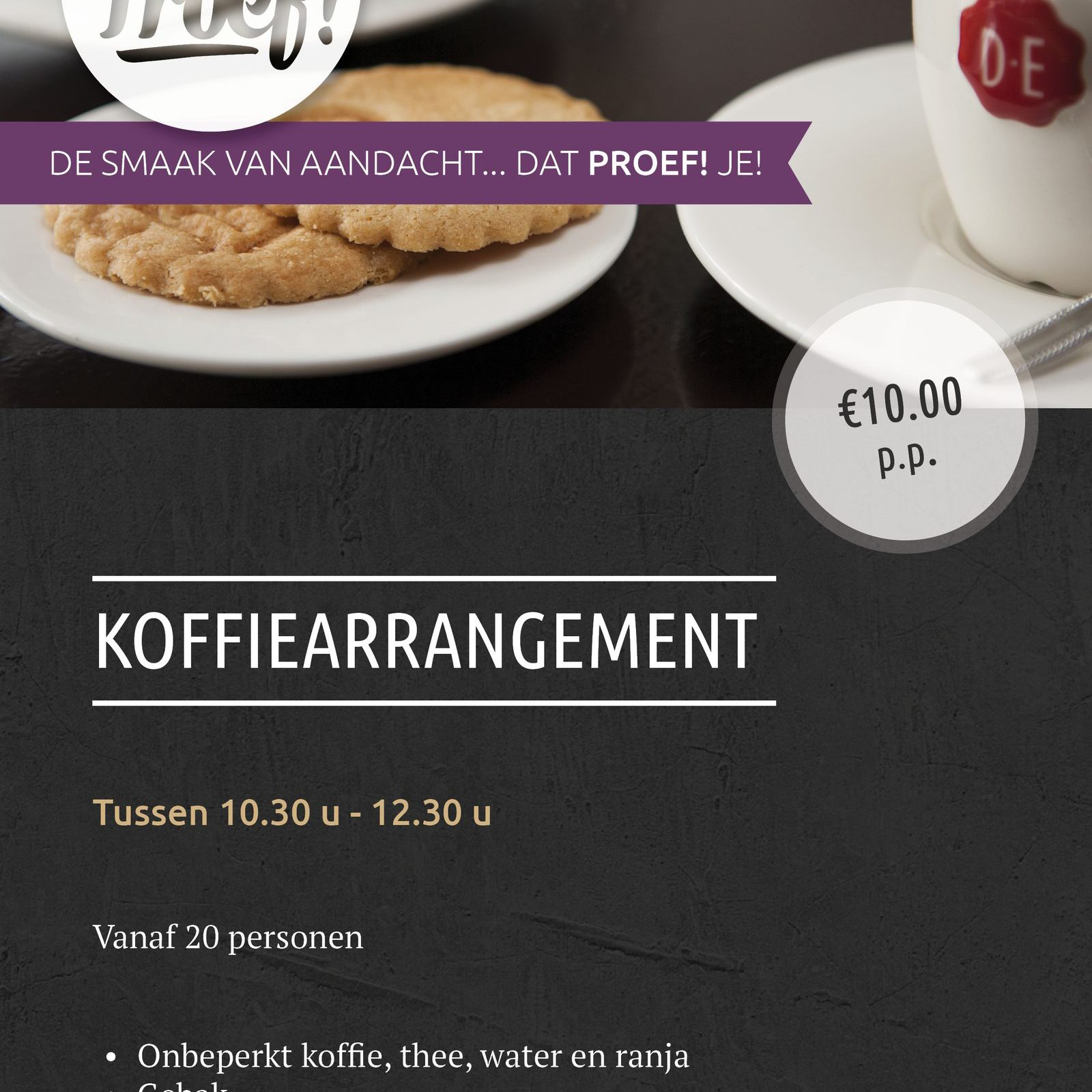 Celebrate birthday in Voorthuizen at Proef! De Boshoek with coffee arrangement