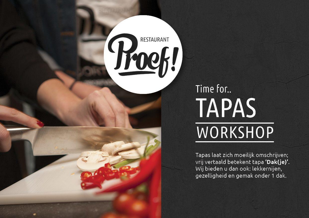 Tapas Kookworkshop in Voorthuizen bij Proef! De Boshoek