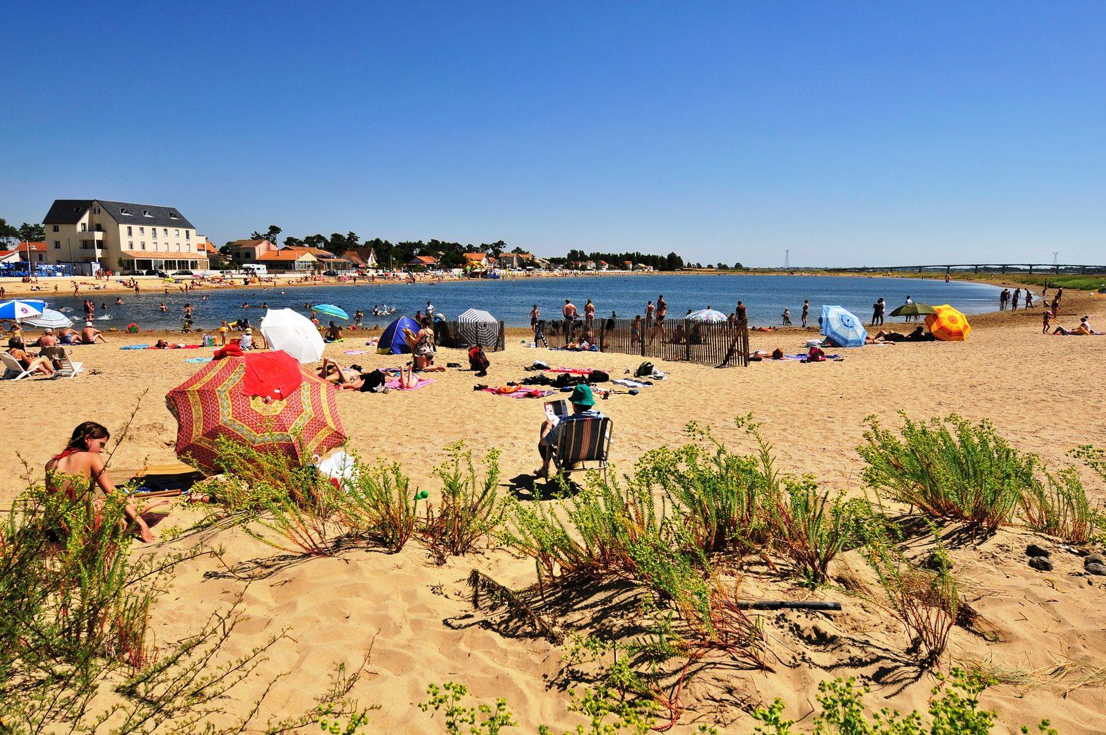 Strand van Marennes in Charente Maritime Frankrijk