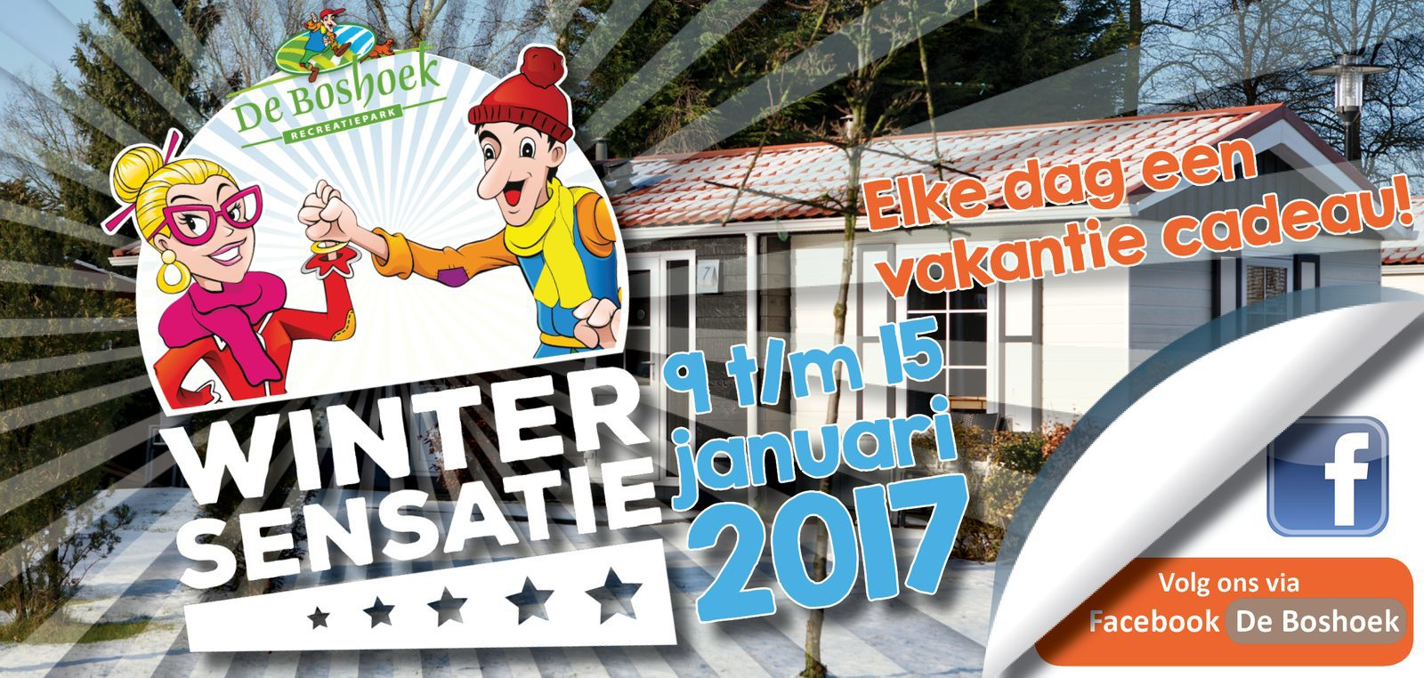 Elke dag een vakantie cadeau! Win een vakantie op de Veluwe bij Recreatiepark De Boshoek