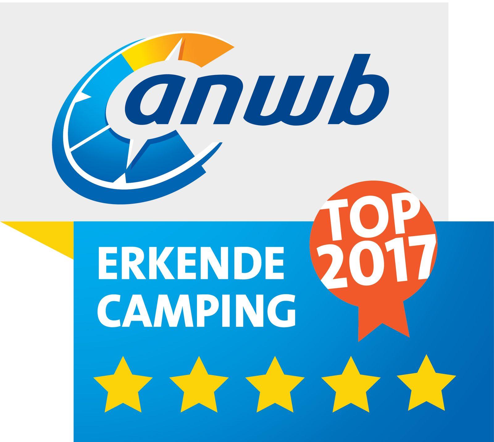 Der Freizeitpark De Boshoek ist auch 2017 wieder ein 5*-TOP-Campingplatz!