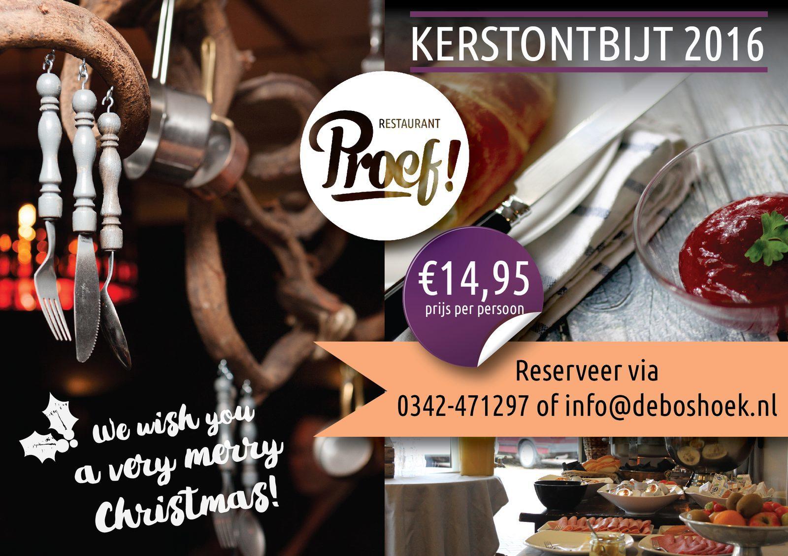 Kerstontbijt in Voorthuizen bij Proef!