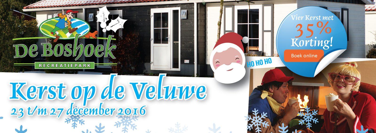 Vier Kerst op de Veluwe bij Recreatiepark De Boshoek met 35% korting!