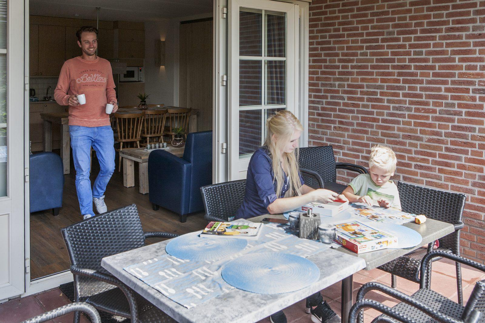 Bungalow vakantie met gezin met kinderen op de Veluwe bij Recreatiepark De Boshoek
