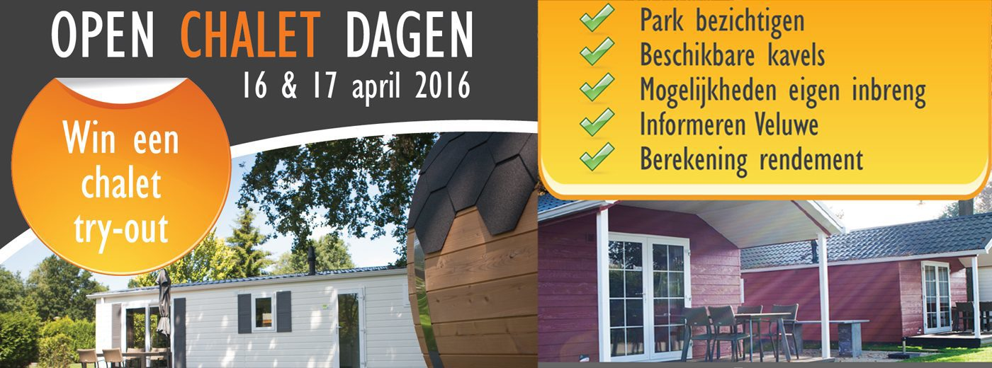 Win een Chalet Try-out op de Veluwe!