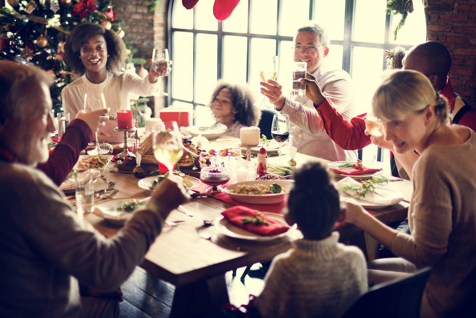 Gruppenunterkunft zu Weihnachten