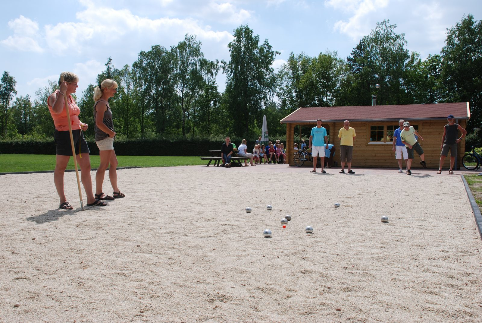 Pétanque at the campsite