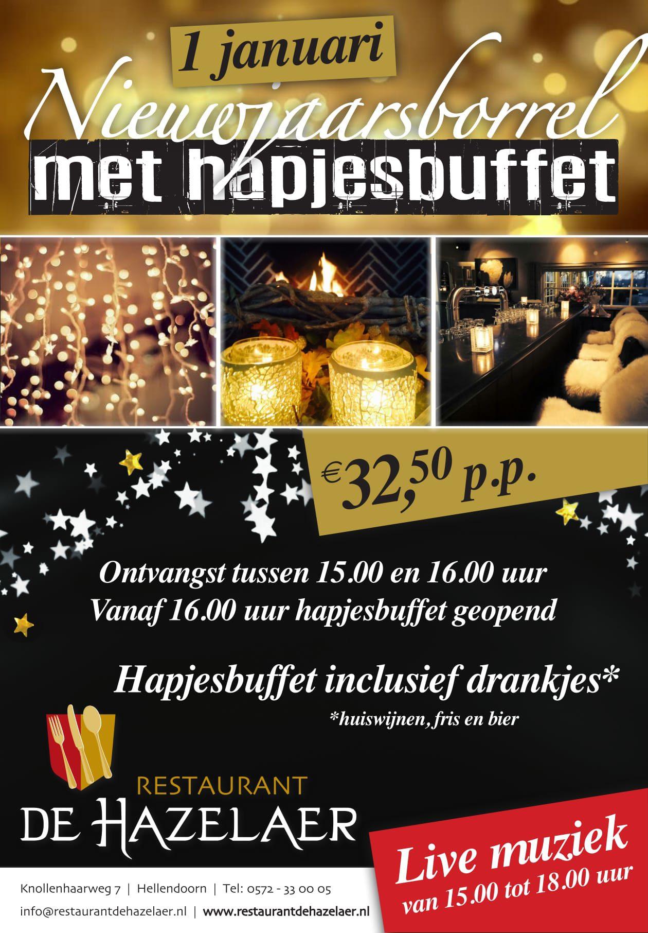 Nieuwjaarsarrangement bij restaurant De Hazelaer