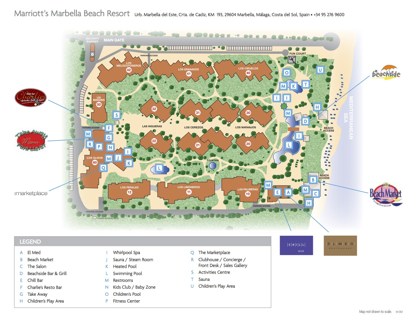 Plattegrond Marbella Beach Resort