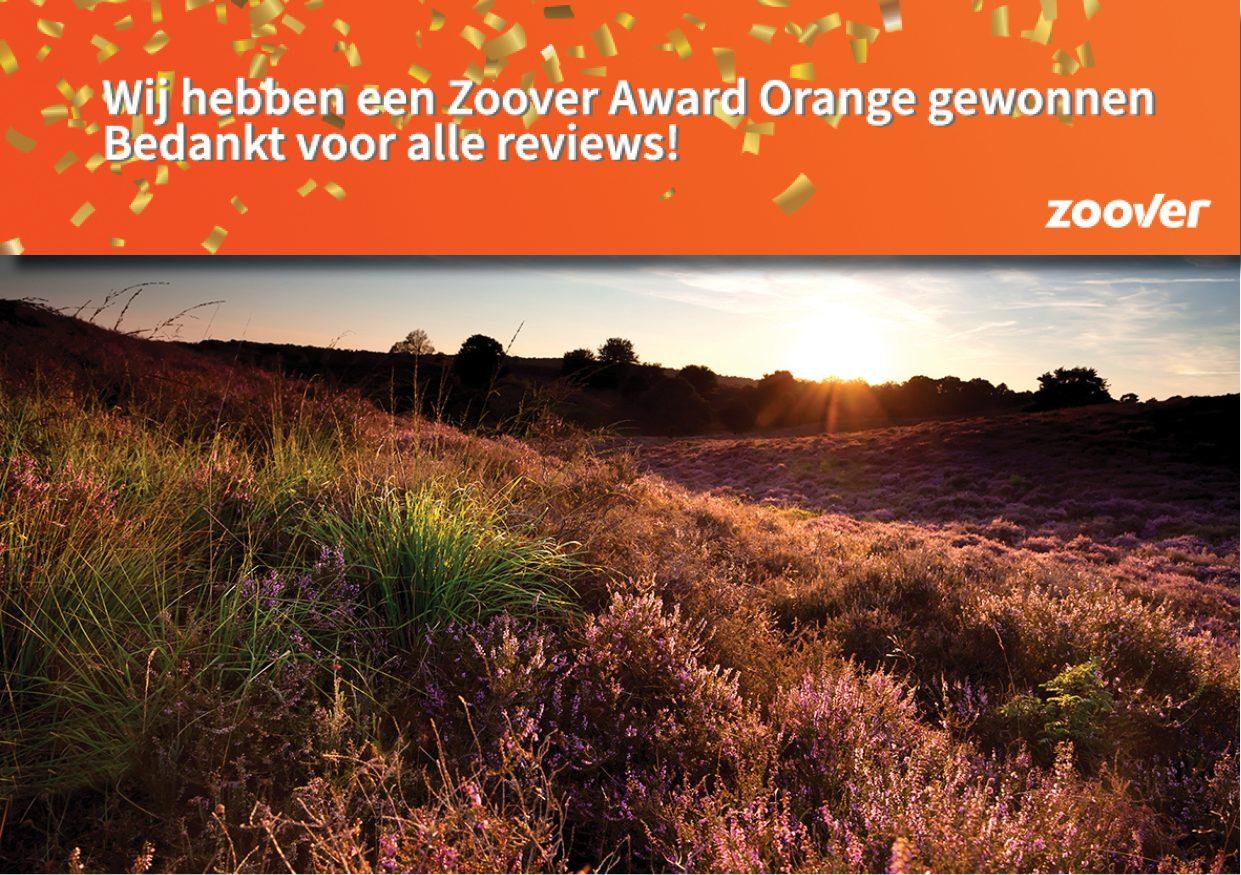 Zoover Orange Award gewonnen!