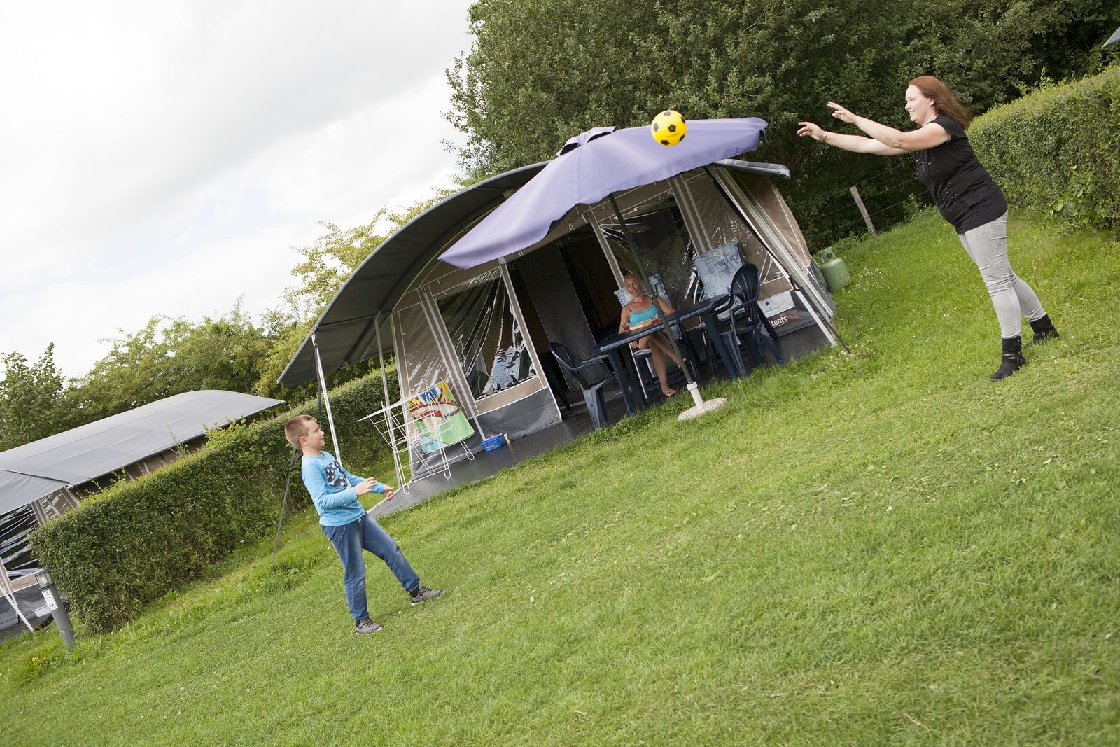 1 ouder camping