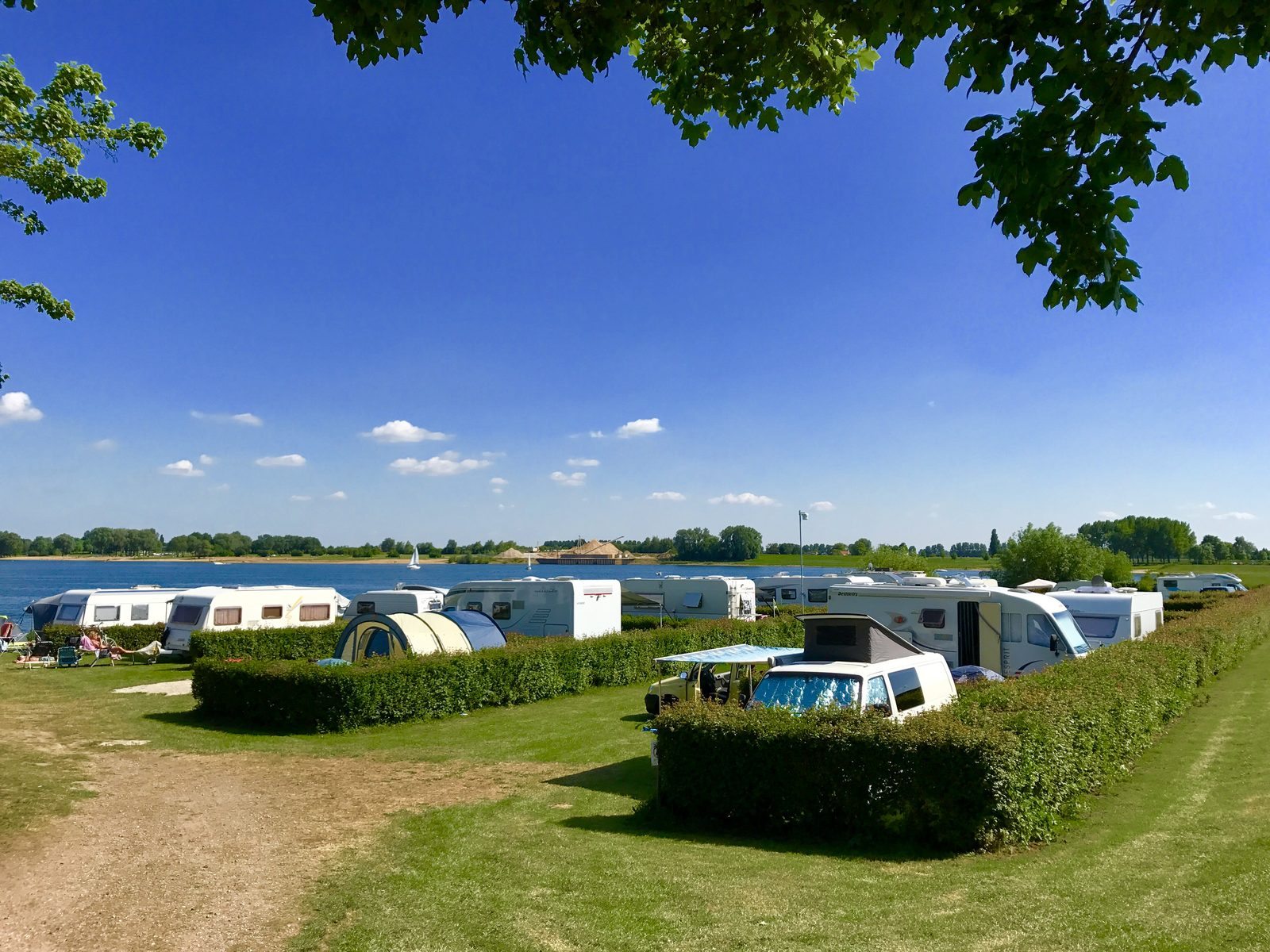 Campsites on the waterside