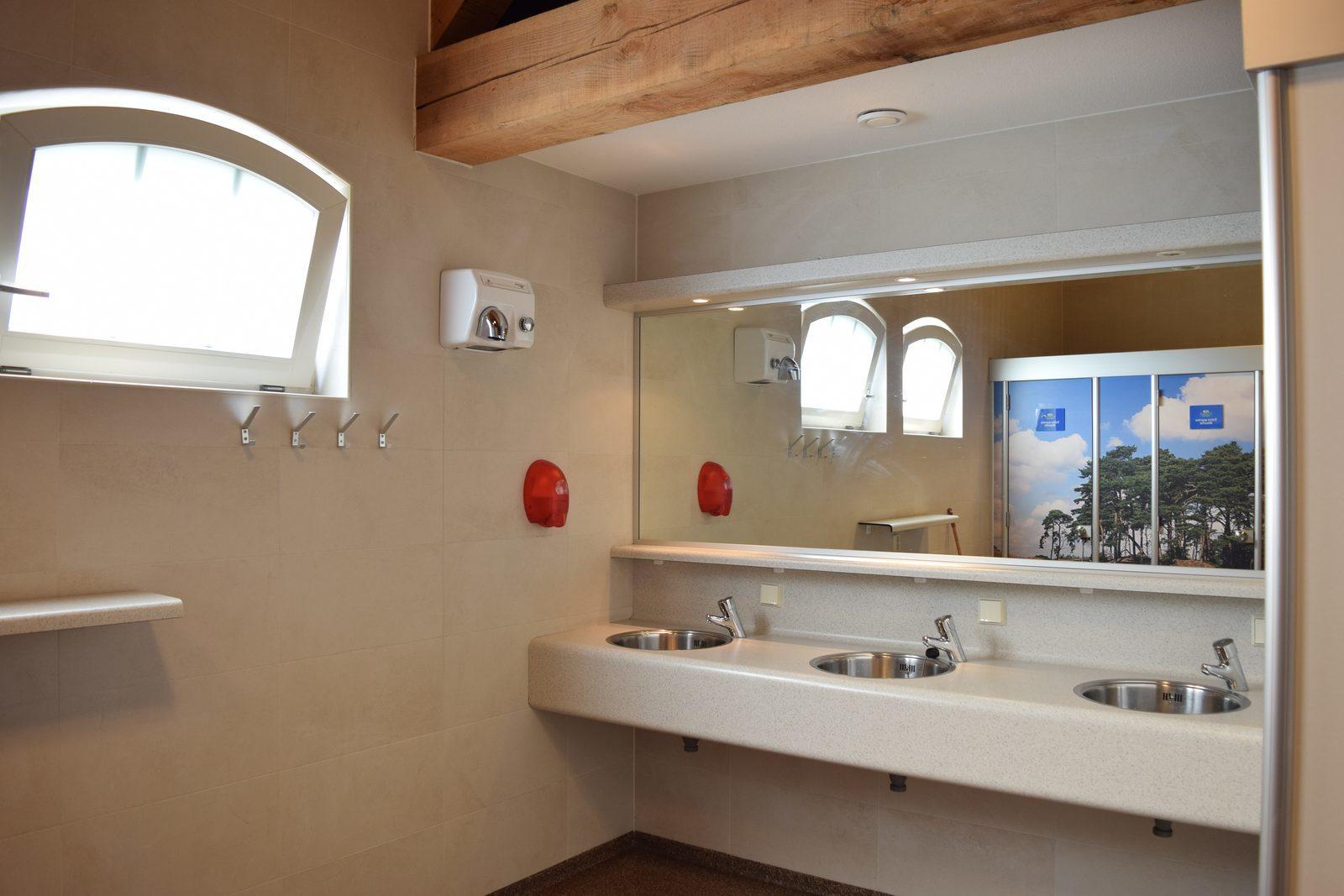 Luxe sanitairgebouw op camping van Recreatiepark De Boshoek