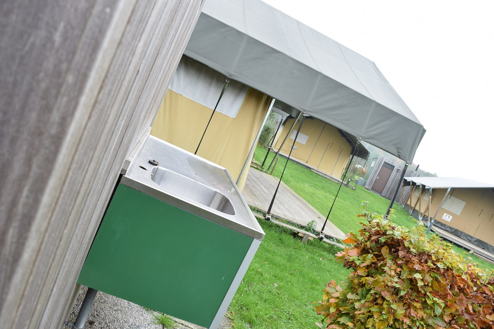 Private sanitary facilities at your camping pitch at Holiday Resort De Boshoek