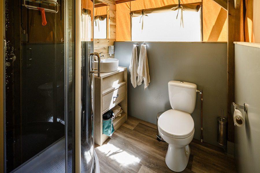 Badkamer in de tent