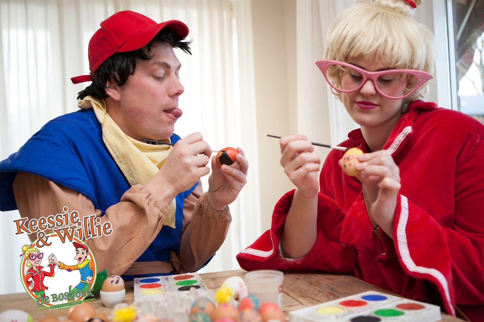 Kom gezellig mee doen met Keessie en Willie tijdens de Paasdagen