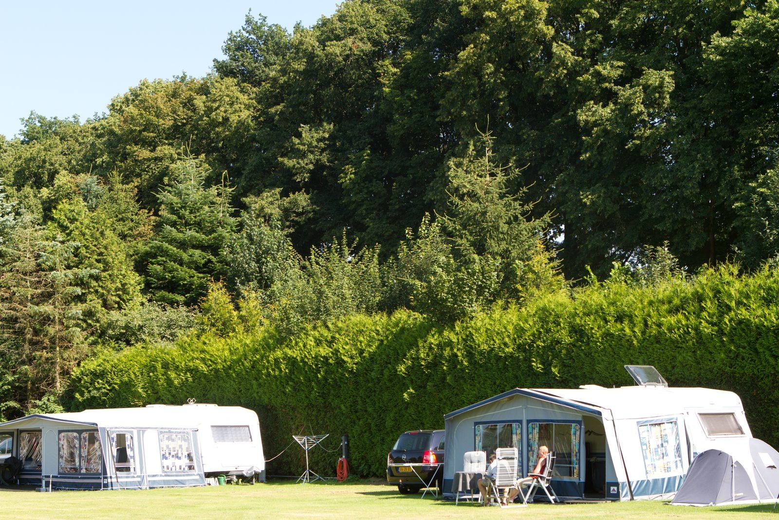 Camping site de Koeksebelt near the de Vecht river