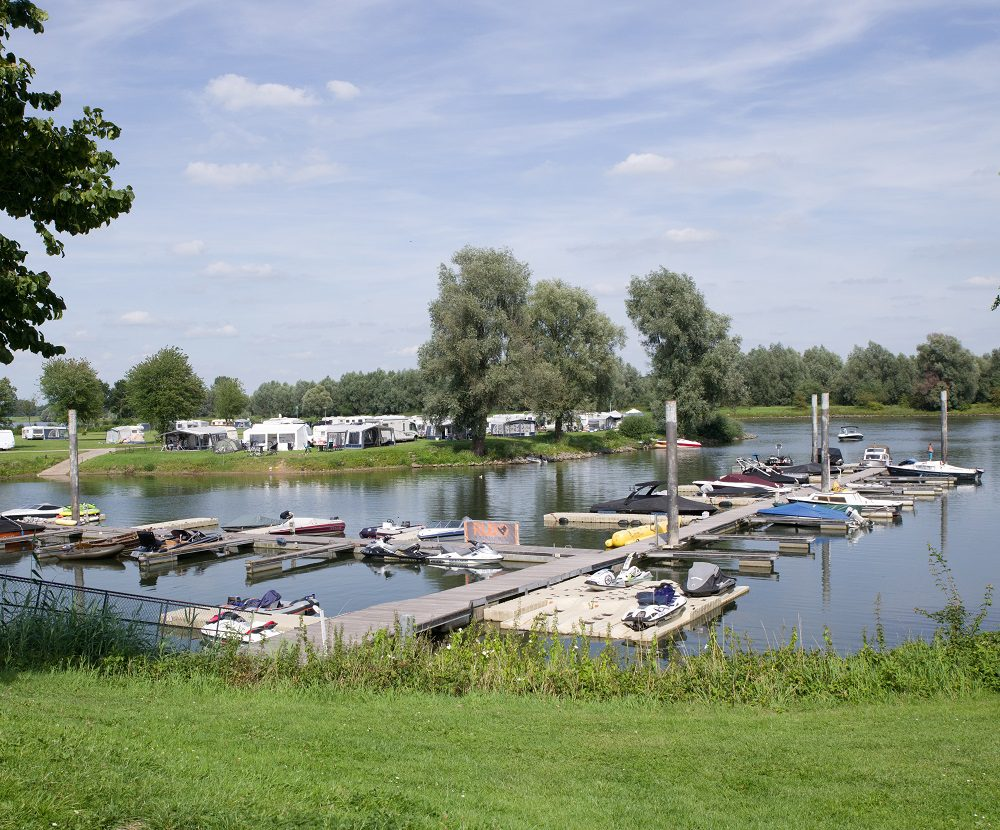Holiday park with fishing pond