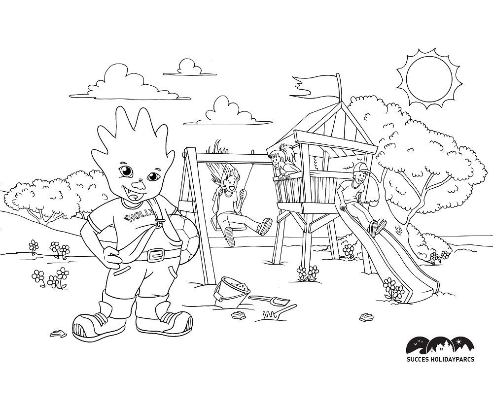 Coloring page vacation