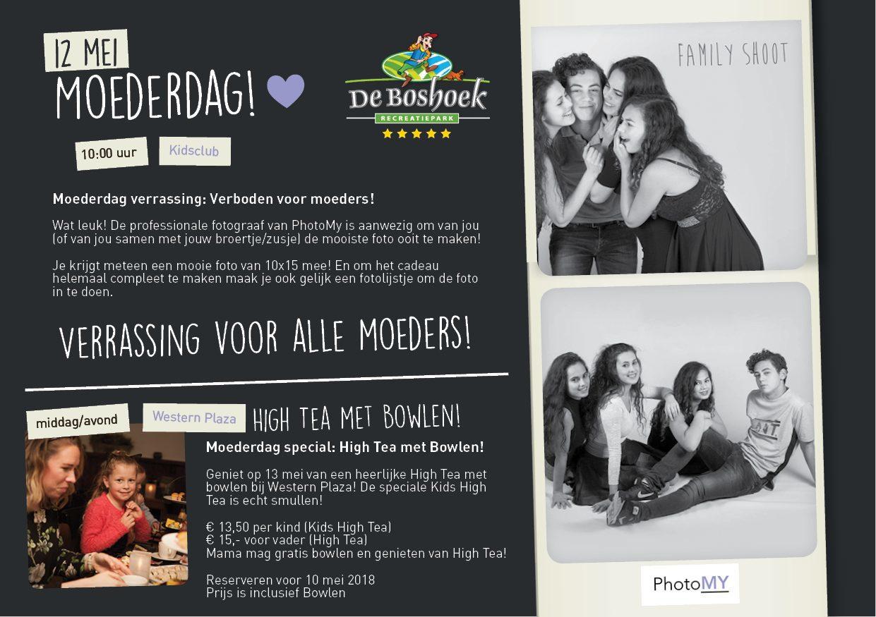 Vier Moederdag op De Boshoek met fotoshoot, High Tea en Bowlen!