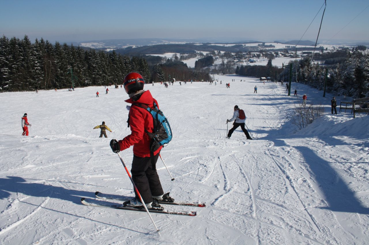 Skiing in the Ardennes