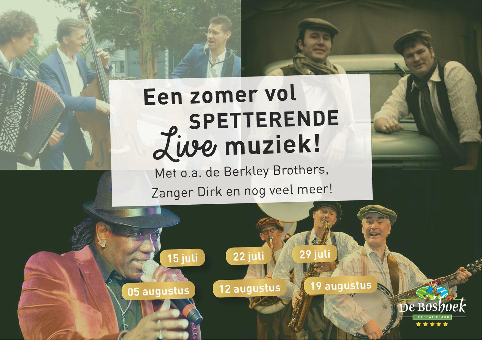 LIVE-muziek tijdens vakantie op De Boshoek