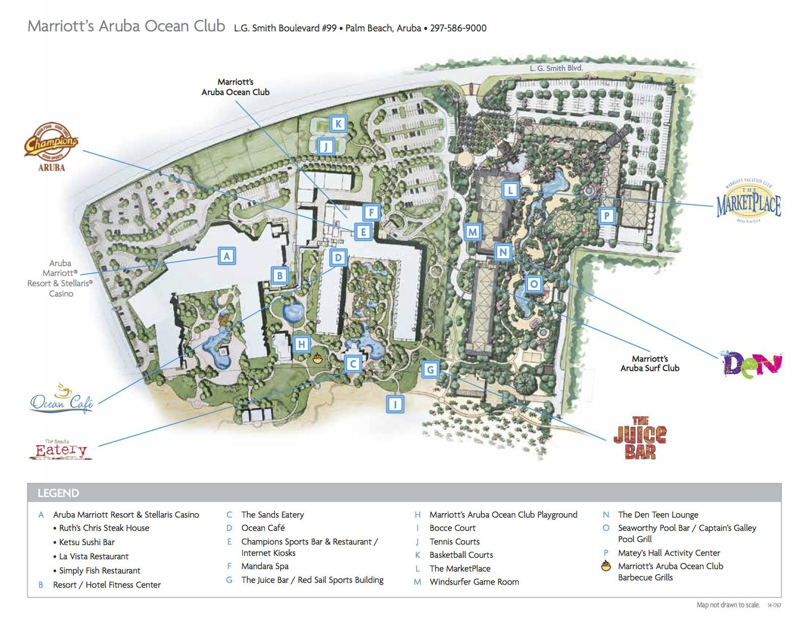 Aruba Ocean Club map