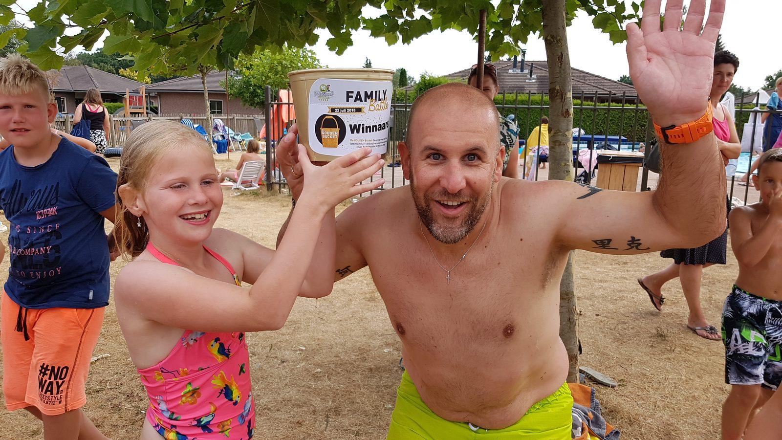 Winnaars family battle levend sjoelen op De Boshoek