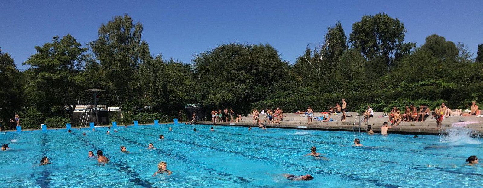 Planschen im pool