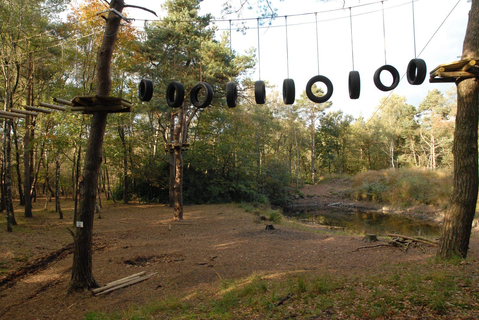 Klimparcours met zwemvijver bij buitenplaets de Heide