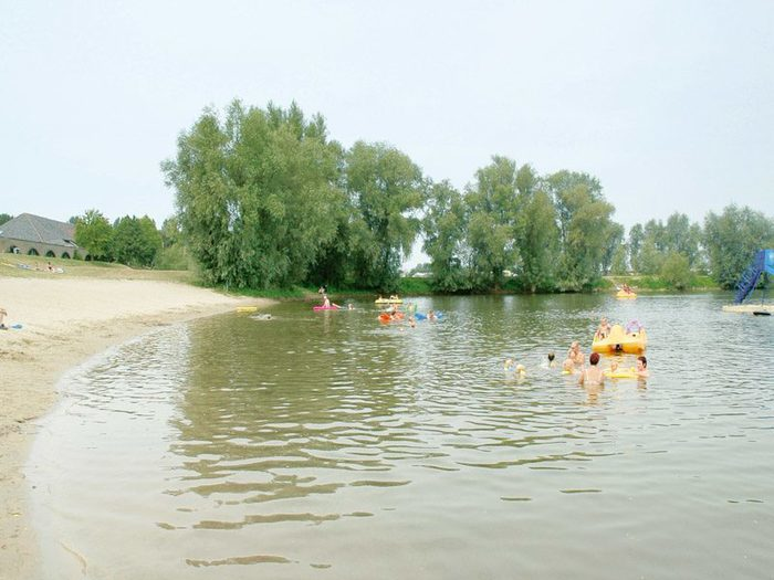 Holiday park with recreational lake