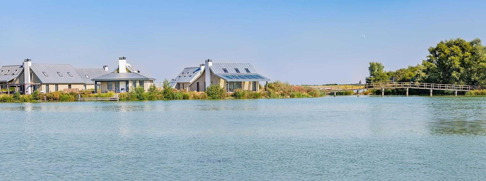 Holiday resort at the waterside