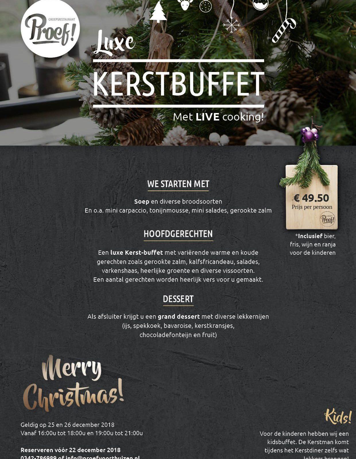 Kerstbuffet bij Proef! in Voorthuizen
