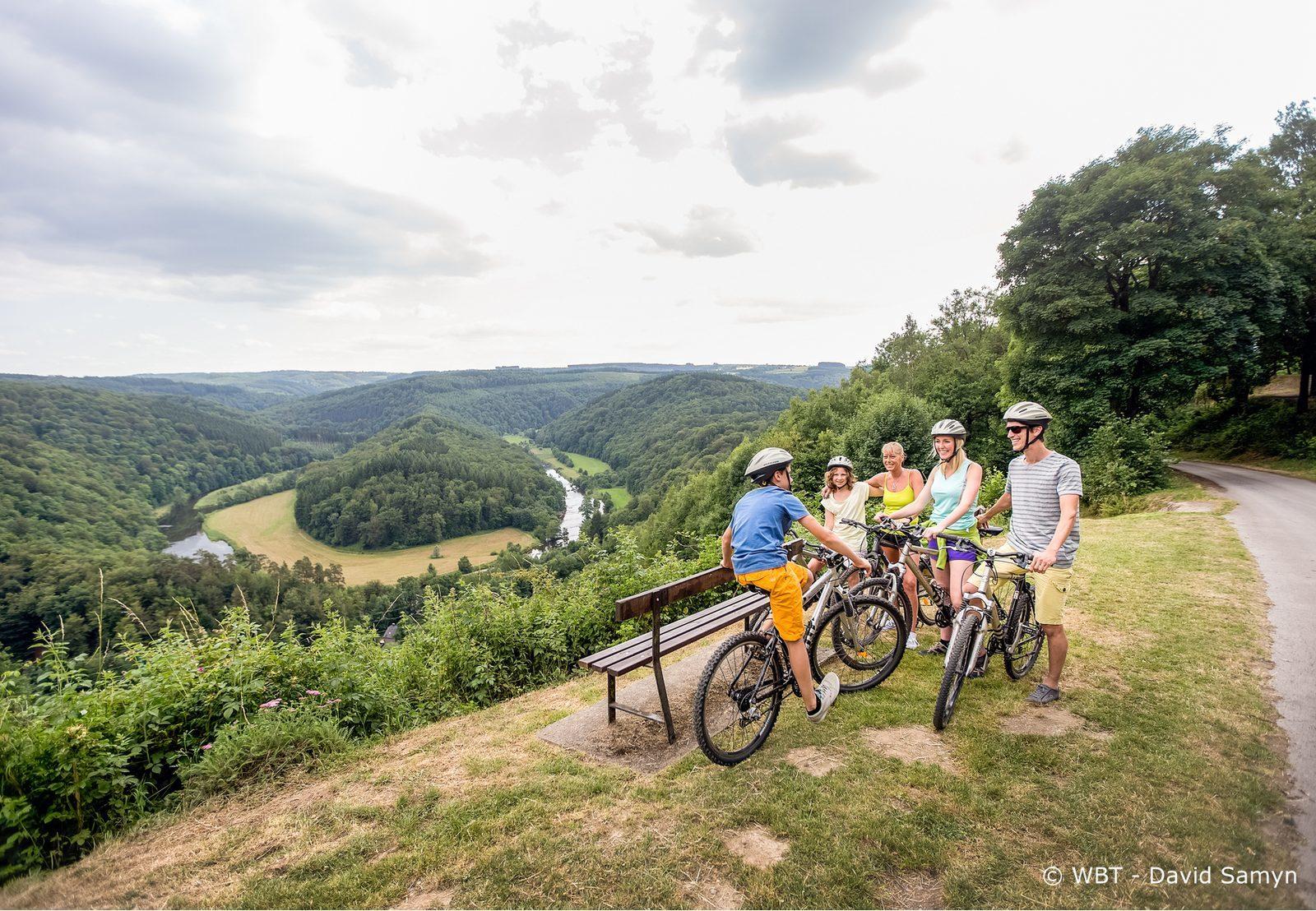 Fietsen tijdens vakantie in de Belgische Ardennen