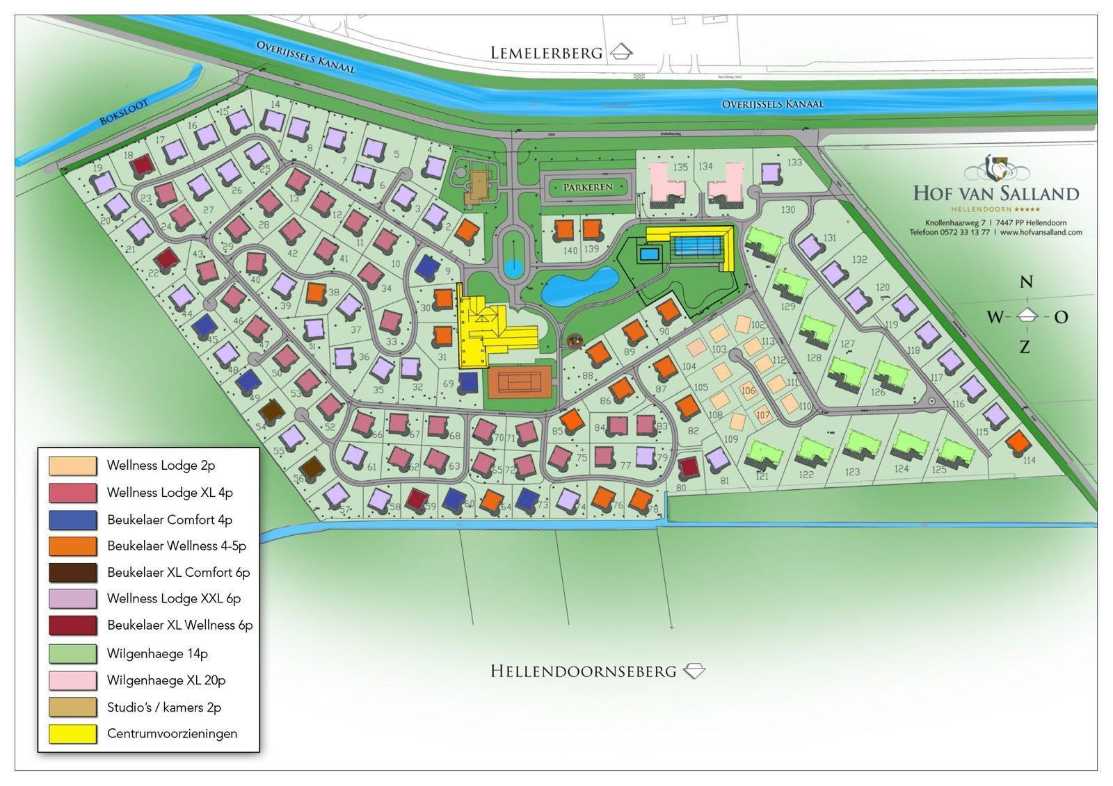 Karte von Hof van Salland