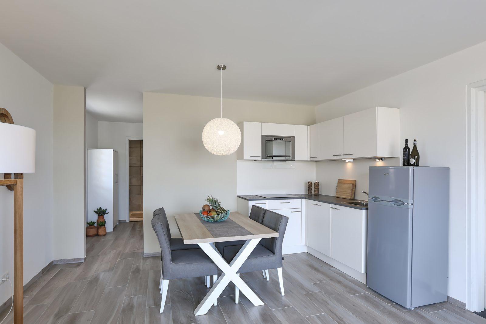Les appartements du Resort Bonaire sont très spacieux. Ils sont faits pour de quatre à six personnes.
