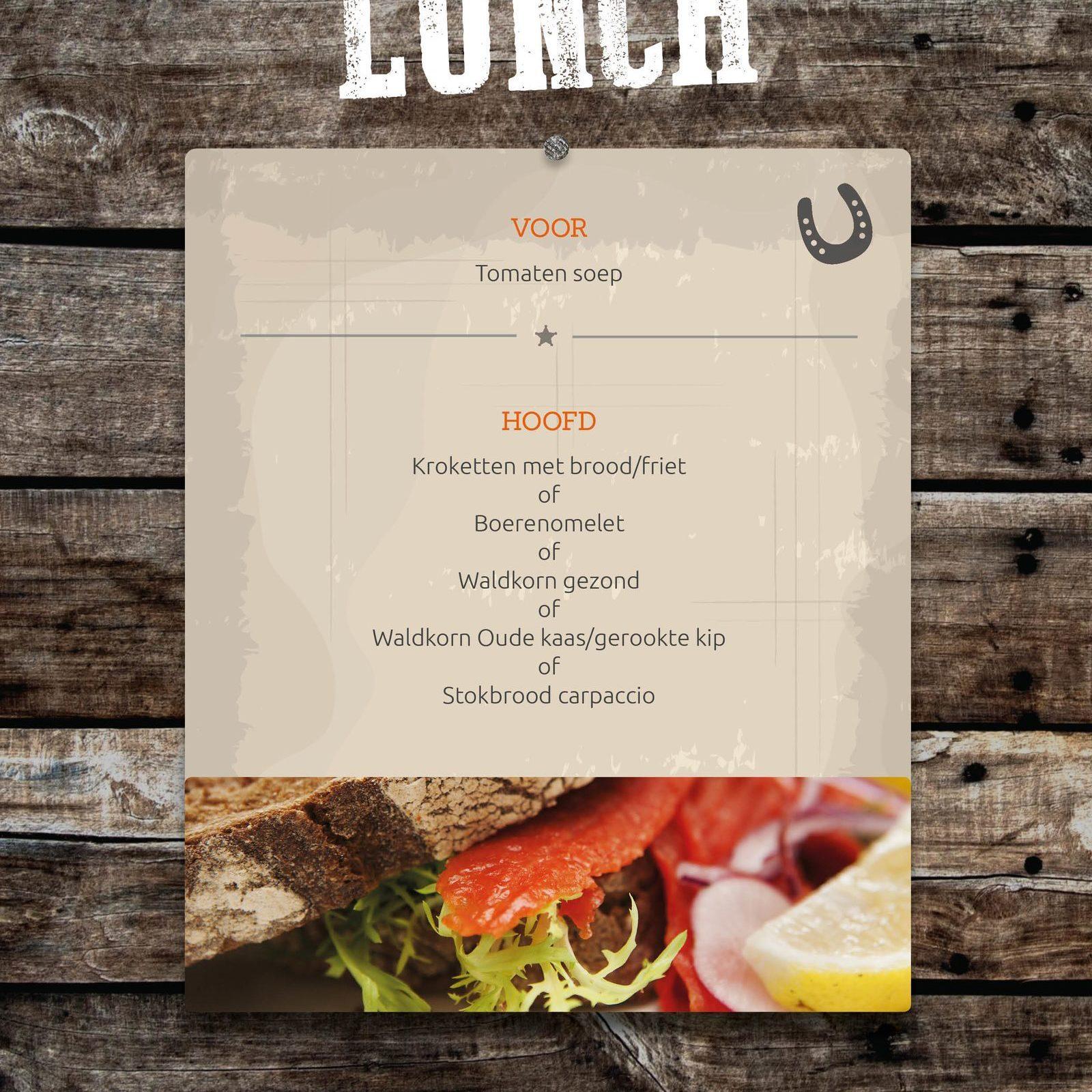 Lunch bij Events op de Veluwe in Voorthuizen