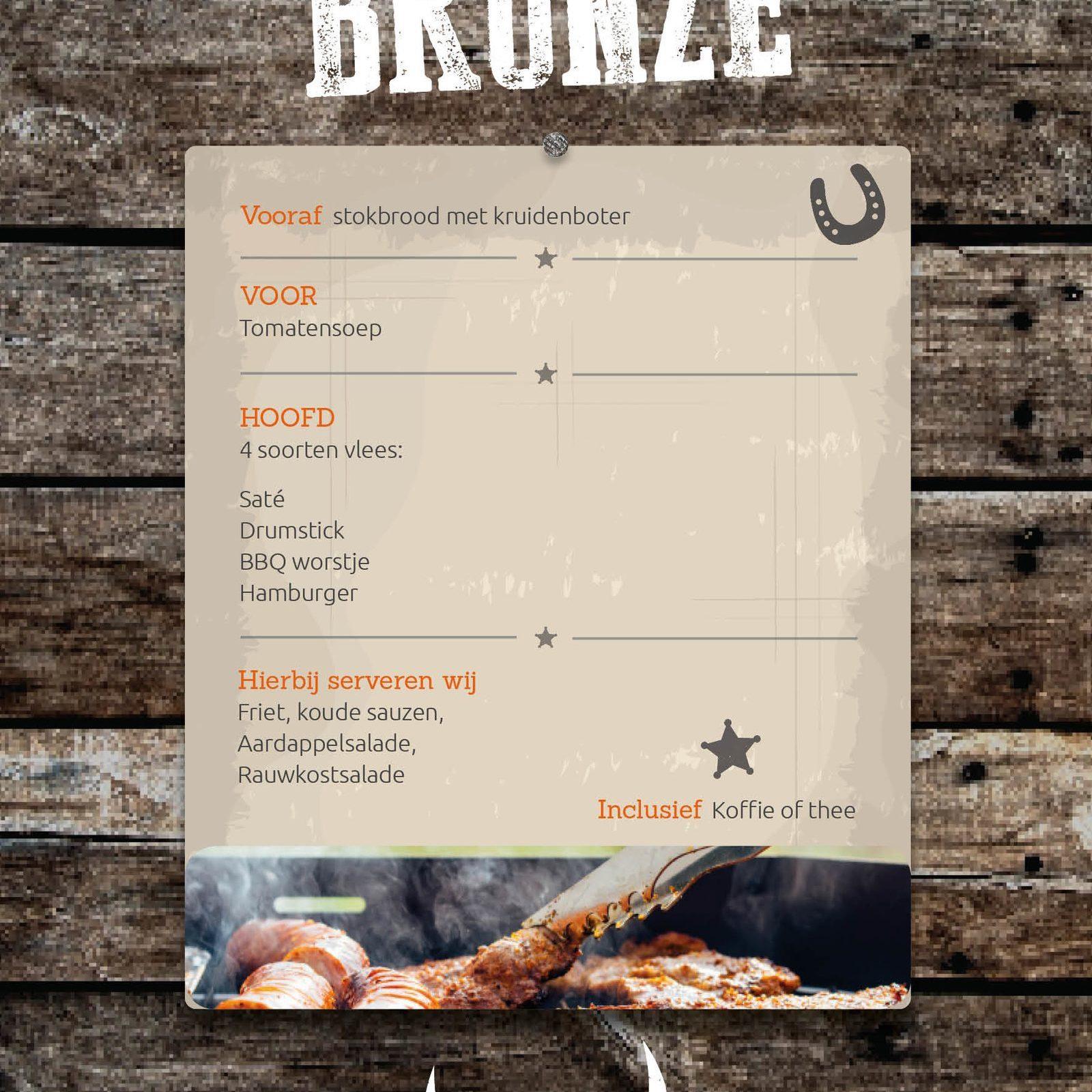 Het BBQ Bronze pakket van Events op de Veluwe!
