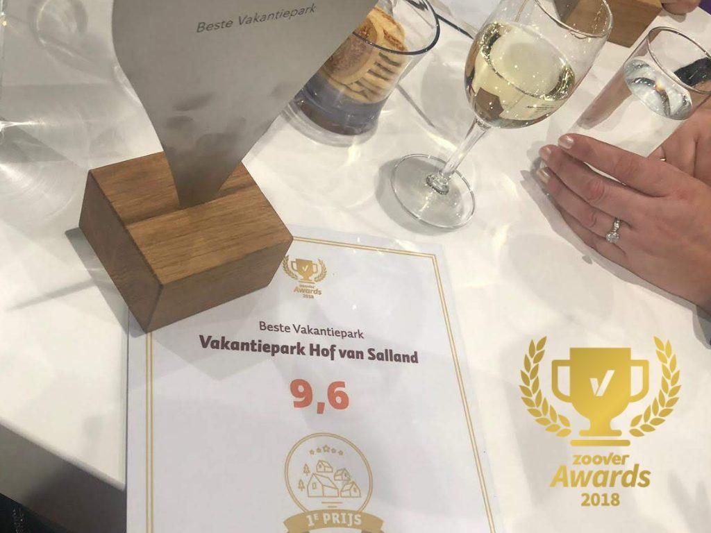 1e prijs Beste Vakantiepark Zoover Awards