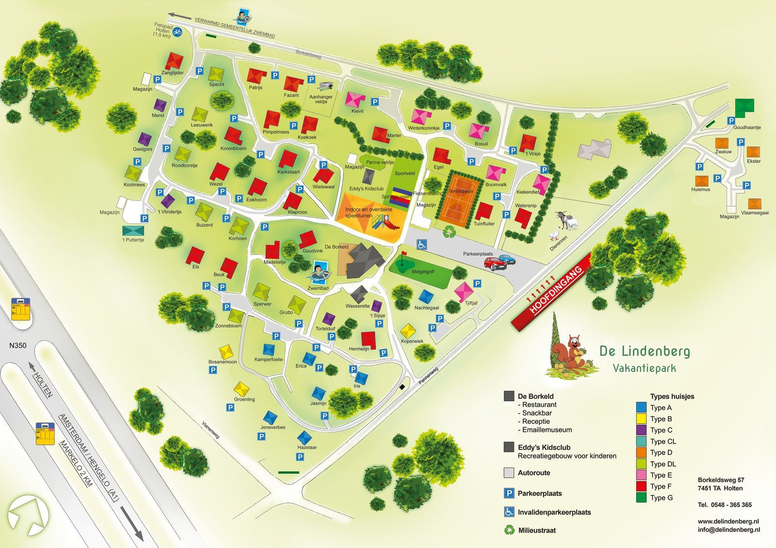 Map Holiday Park De Lindenberg