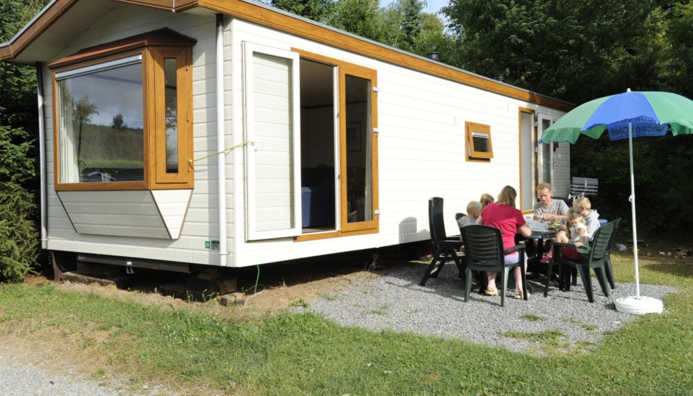Luxurious chalet caravan
