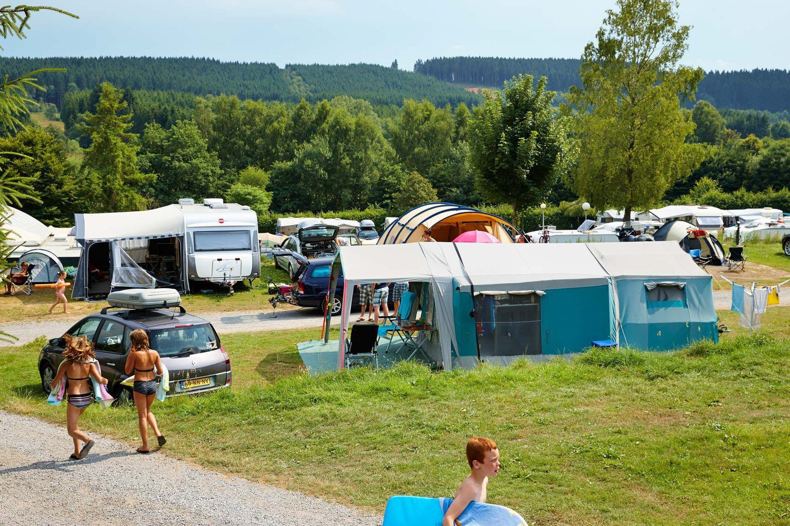 Beautiful campsite in the Ardennes