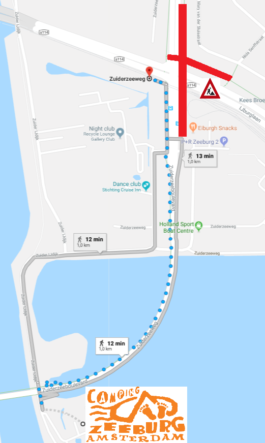 Diversion walking and cycling routes