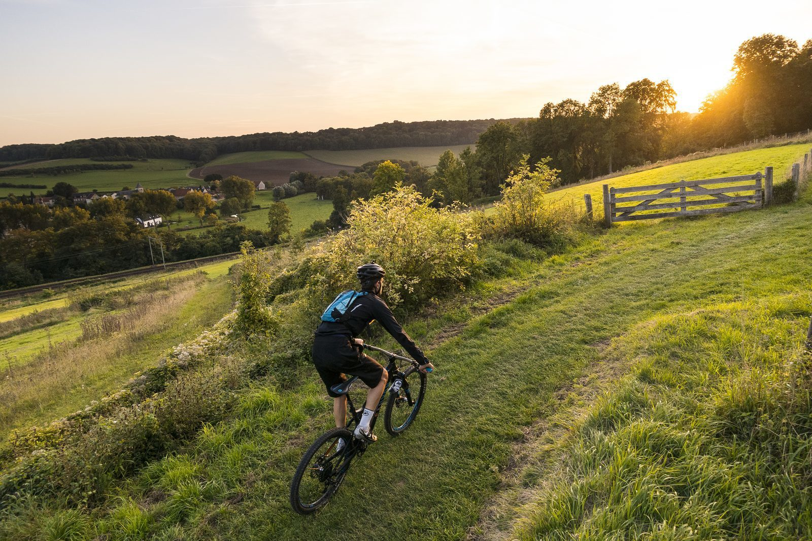 Cycling in the hilly landscape