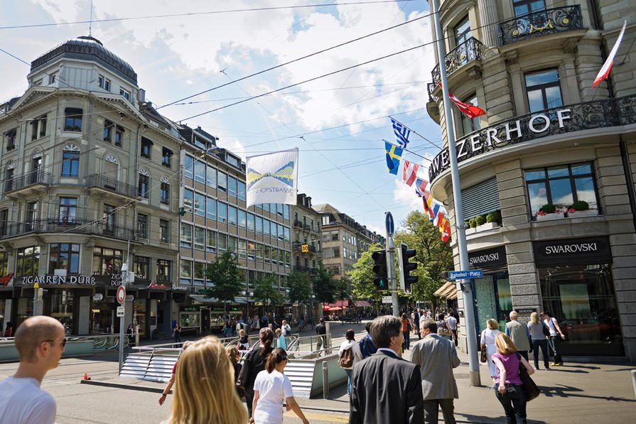 zurich shopping boulevard switzerland