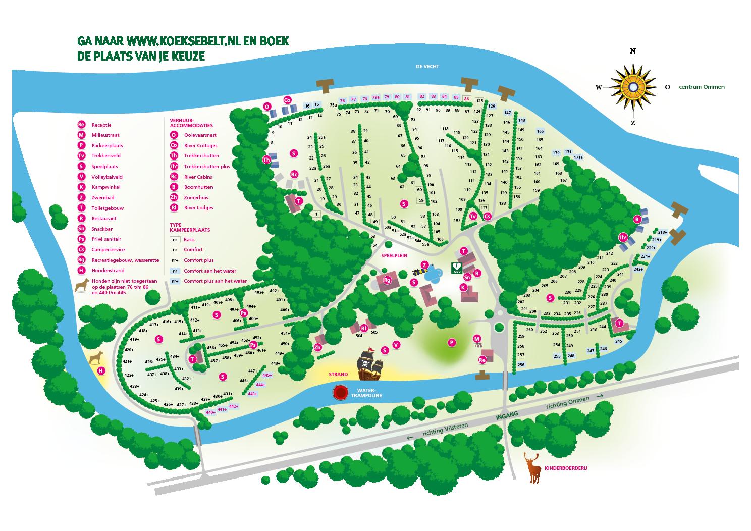 Karte 2019 Campingplatz de Koeksebelt